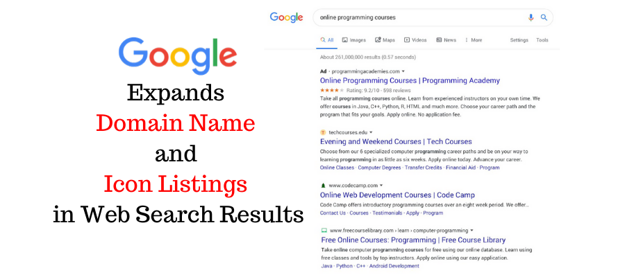 Google Expands Domain Name and Icon Listings in Web Search Results 1